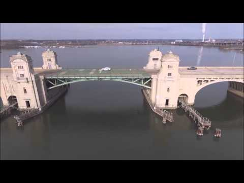 Drone View of Hanover Street Bridge with a Phantom 3 Advanced