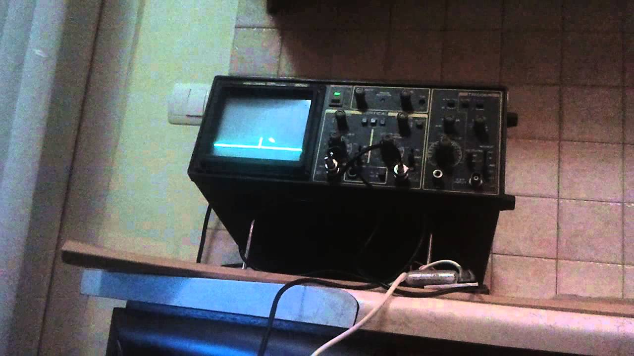 Oscilloscope Tennis For Two : Τ tennis for two emulation on real oscilloscope youtube