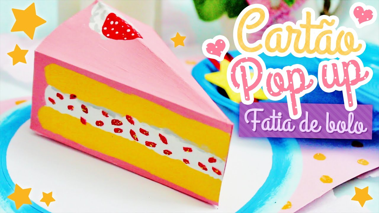 How To Make A Cake Pop Out Card