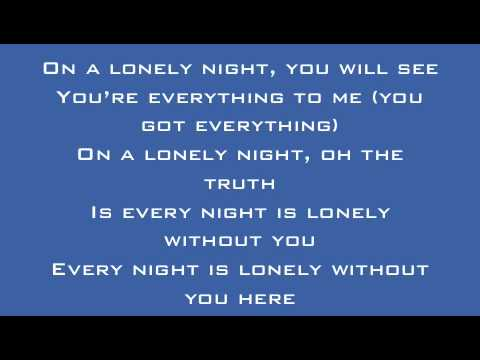 A Rocket To The Moon - On A Lonely Night Lyrics