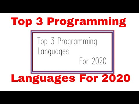 TOP PROGRAMMING LANGUAGES 2020|TOP PROGRAMMING LANGUAGES TO LEARN