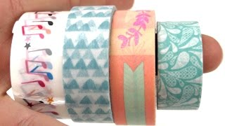 Washi tape haul deutsch - Washitape Test Tschibo - Action - Hema - Lidl Klebeband und Tape