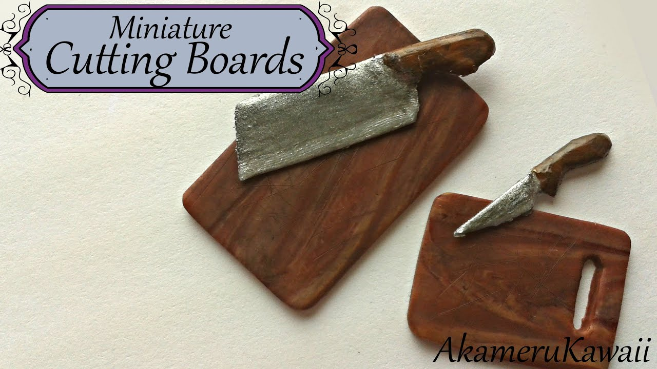 miniature cutting boards from polymer clay  dollhouse miniature, Kitchen design