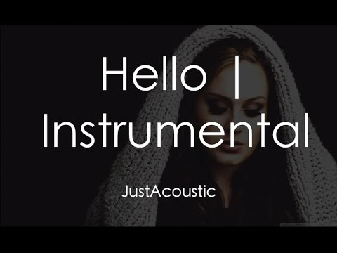 Hello  Adele Acoustic Instrumental