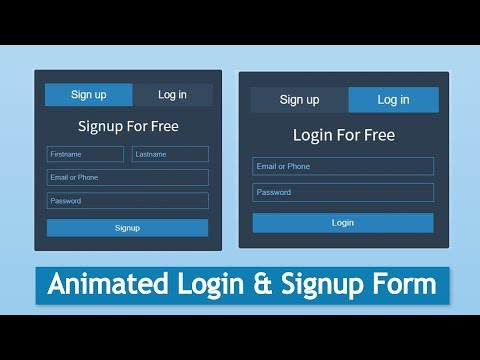 Animated Login & Signup Form (Part -1) | HTML, CSS & Javascript