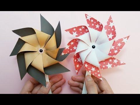 Okay! ll Origami Paper windmill tutorial (pinwheel)