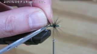 テンカラ毛針の巻き方