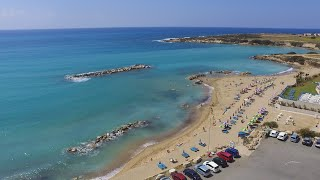 corallia beach from above, coral bay, paphos cyprus march 2016…