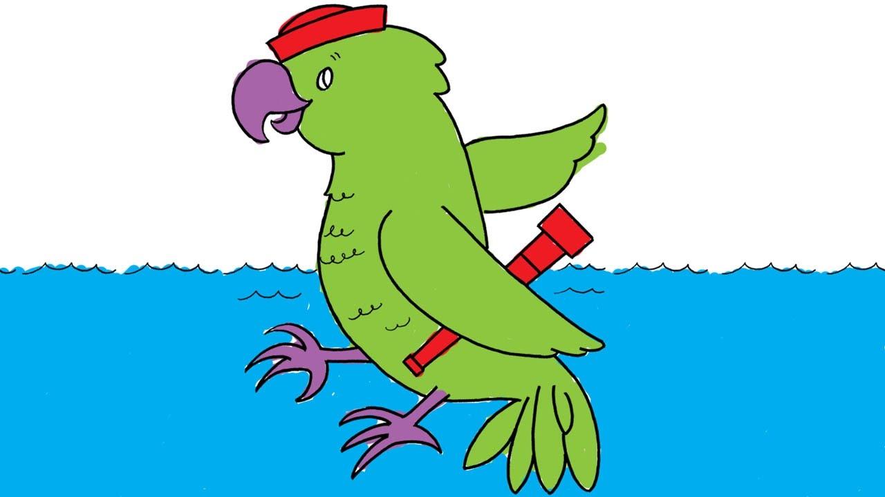 Painting Pirate Parrot | preschool painting activities | nursery ...