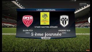 Dijon vs Angers | Match Entier & Buts | 15/09/2018| ligue 1  2018/ 2019