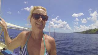 SE2 EP37. A Nudist beach and a Bouncy water park - Exploring St Anne - Sailing the Caribbean