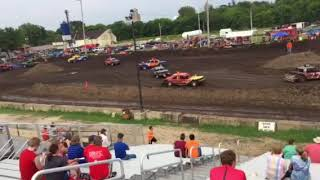 Figure 8 Racing in Hampton @ 2pm 8/19/18 Old School Stock Feature Pt 1