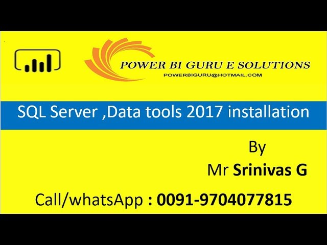 Data tools, Sql server installation for Power BI | Power BI Training from Power Bi GURU