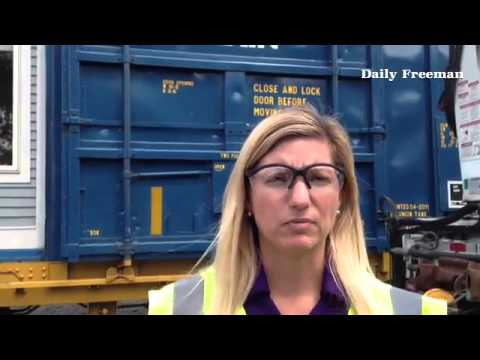 CSX Corp. Spokeswoman Carla Groleau talks about safety train