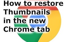 Thumbnails Disappeared in Google Chrome - How to fix it