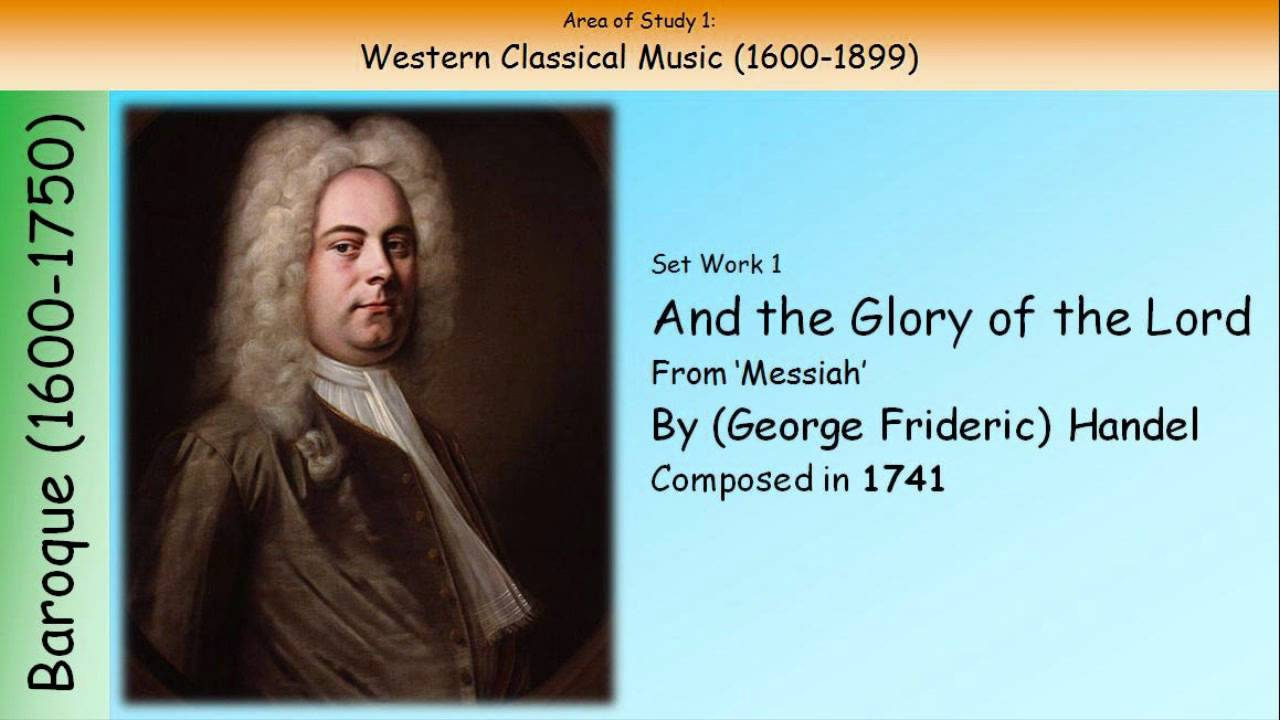 handel and the glory of the lord essay And the glory of the lord lyrics belongs on the album rock messiah (david axelrod) learn every word of your favourite song and get the meaning or start your own concert tonight :-) rate this song's lyrics.