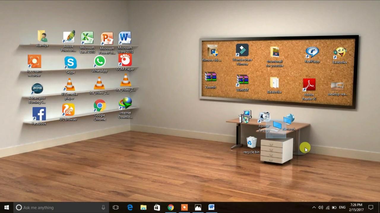 How to make a beautiful classic 3d desktop in windows for Windows 7 bureau vide