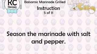 Balsamic Marinade Grilled - Kitchen Cat