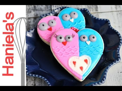 Valentine S Day Owl Cookies Haniela S Youtube