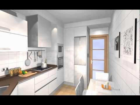 Estudio cocina con fregadero y despensero en esquina -ARREDO-.Mov ...