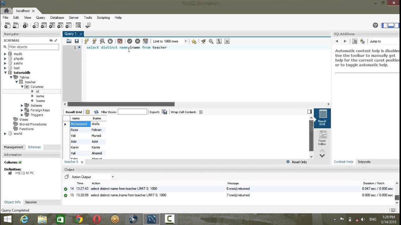 database tutorial 3 sql & mysql - YouTube