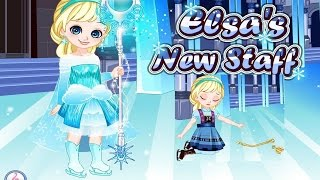elsa s new staff full movie play for kids fun disney frozen games princess elsa videos