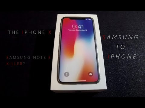IPHONE X... SAMSUNG NOTE 8 KILLER??? CHANGING FROM SAMSUNG T