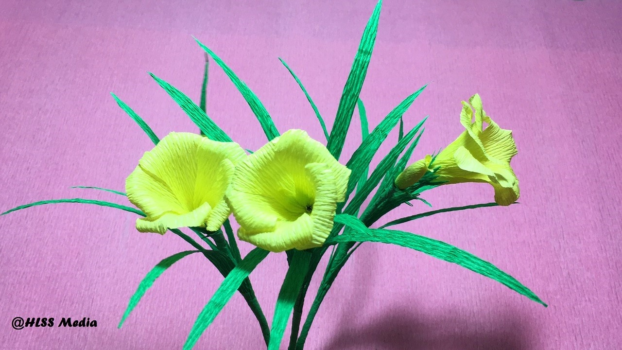 How To Make Origami Yellow Oleander Flower By Crepe Paper Easydiy