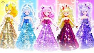 HUGっと!プリキュア リカちゃん♥スパンコールの手作りドレスでプリンセスに変身✨王子様にプロポーズ🌼おもちゃ 人形 アニメ