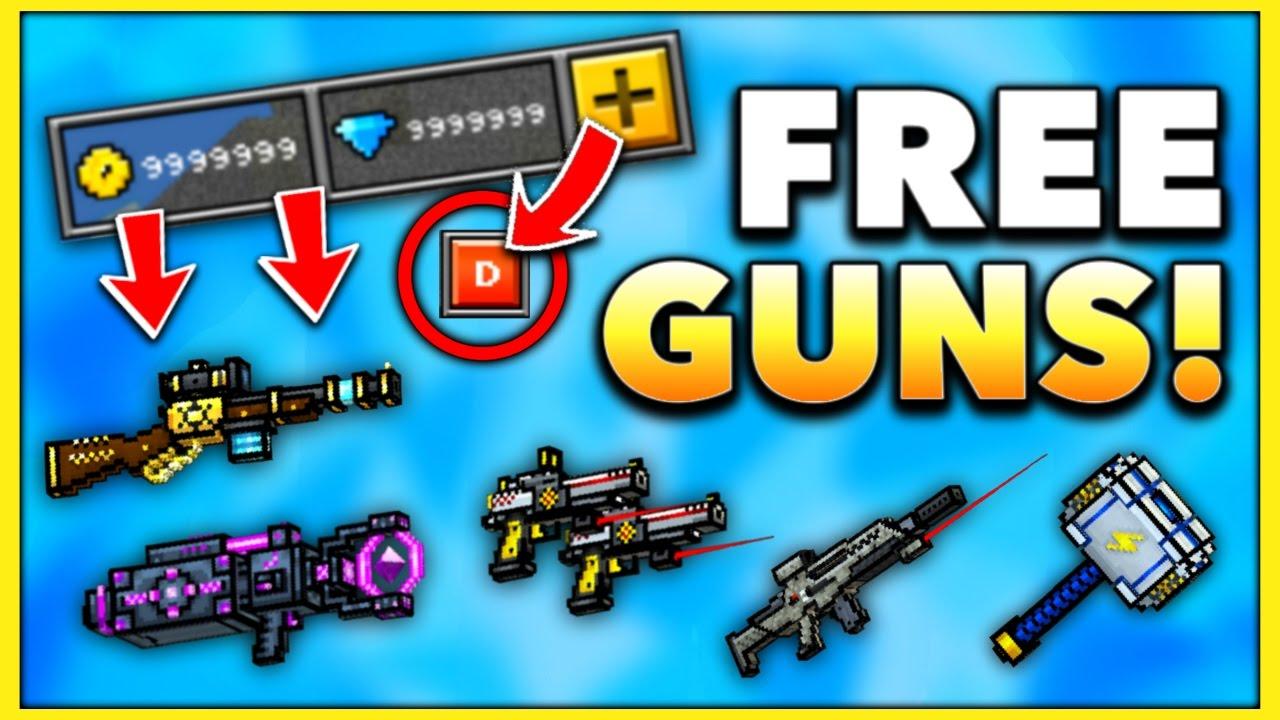 pixel gun 3d free guns hack