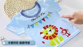 Детские комплекты одежды для малышей одежда маленьких девочек и мальчиков летняя хлопковая футболка