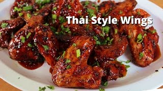 Spicy Thai Style Grilled Wings  Grilled Wings on Big Green Egg with Thai Sauce