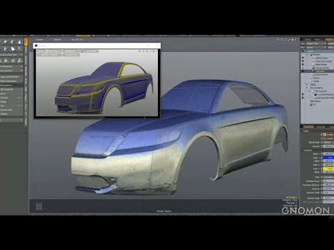 MODO - Automotive Design overview in 8 minutes