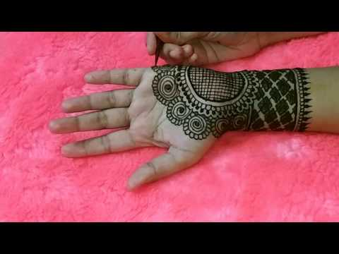 Simple Indian Henna/Mehendi Design For Front Hand