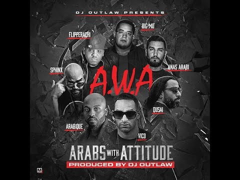 A.W.A Feat. Qusai, Vico, Arabique, Sphinx, Big Mo, Anas Arabi & Flipperachi  - Official Lyric video