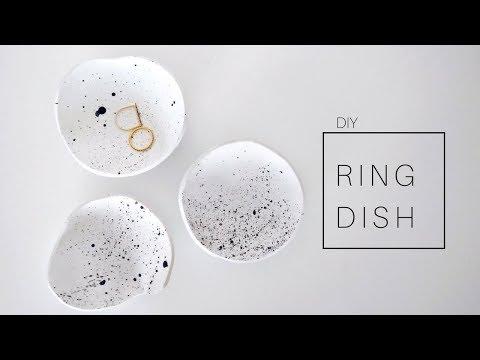 DIY Clay Ring Dish - Jewelry Holder   Minimal Room Decor 2018
