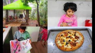Rainy Day Vlog - Spicy Whole Wheat Paneer Pizza Recipe - Yummy Tummy Vlog