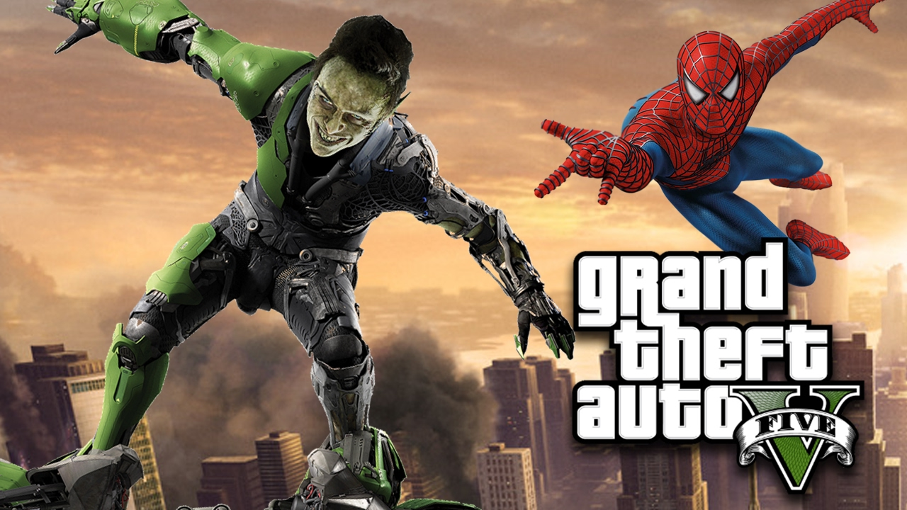 GREEN GOBLIN vs SPIDERMAN in GTA 5! Mod Gameplay!