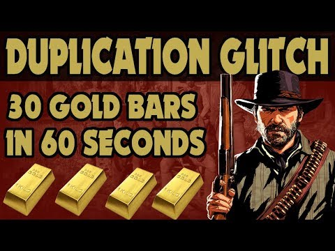 Red Dead Redemption 2 : 30 Gold Bars In Sixty Seconds /  New Gold Duplication Glitch