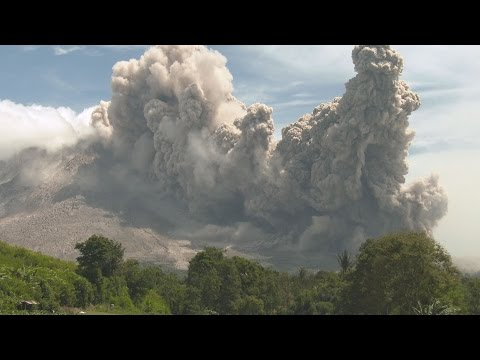 Pyroclastic Flows Swallow Farmland, Volcanic Ash Clouds - Sinabung 4K Stock Footage Screener
