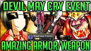 Devil May Cry Event - Incredible Armor - What YOU Need to Know - Monster Hunter World! (Dante Guide)