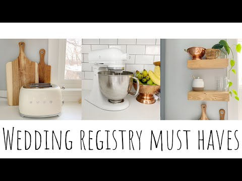 WEDDING REGISTRY | What To Register For & My Favorite Must Haves!