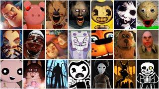 Hello Neighbor,Roblox Piggy,Ice Scream,Bendy,Baldi's Basics,Granny,Five Nights at Freddy's 2
