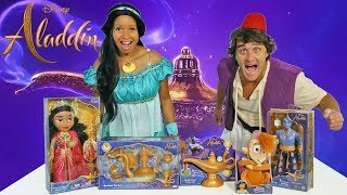 Aladdin Toy Challenge ! Princess Jasmine Vs. Aladdin  || Toy Review || Konas2002