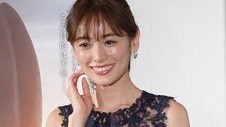「メッセージ」の公開記念イベント都内で開催され、モデルの泉里香と、...