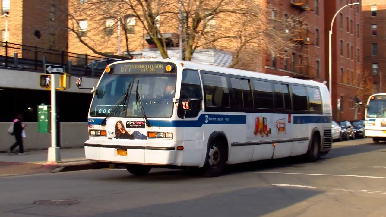 1998-99 nova bus rts t80-206 #4976 on the q77 & #5181 on the q3 at