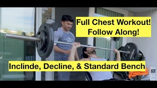 Bench Press Workout for Strength | Decline, Standard, and Incline Bench Press