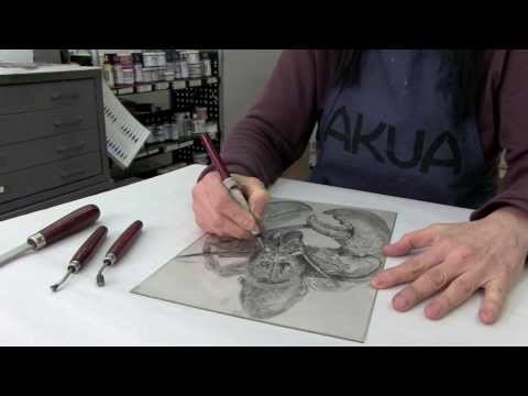 Drypoint Printmaking Up Close With Akua Inks