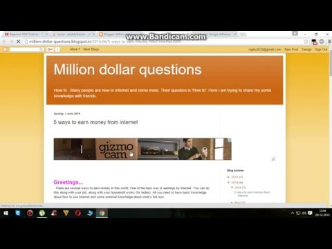 HOW TO PUT ADS ON YOUR BLOG    HOW TO EARN MONEY BY BLOG