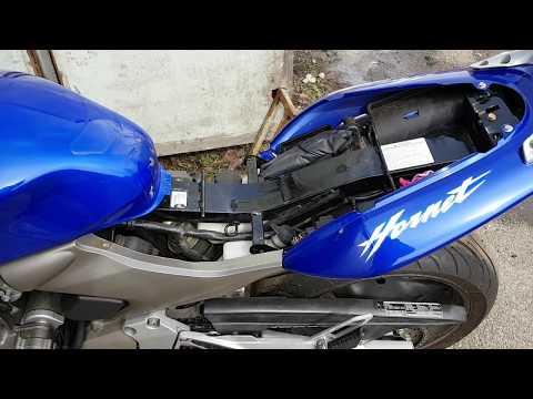 Заводим после зимы Honda CB600F Hornet, давление в шинах, свечи